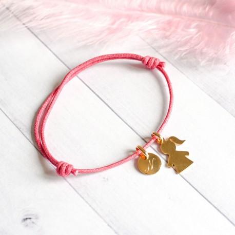 Bracelet gravé Bout'Chou et Rond - Plaqué or