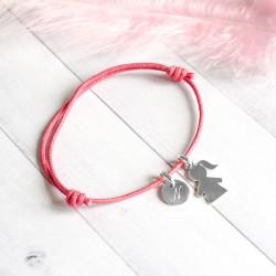 Bracelet gravé Bout'Chou et Rond - Argent