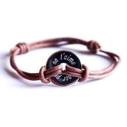 Bracelet personnalisé Bulle de tendresse Double cordon - Argent