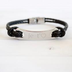 Bracelet homme cuir - Acrier
