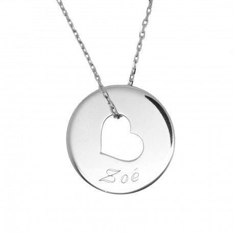 "Collier Bulle de tendresse ""coeur"" - Plaqué or"