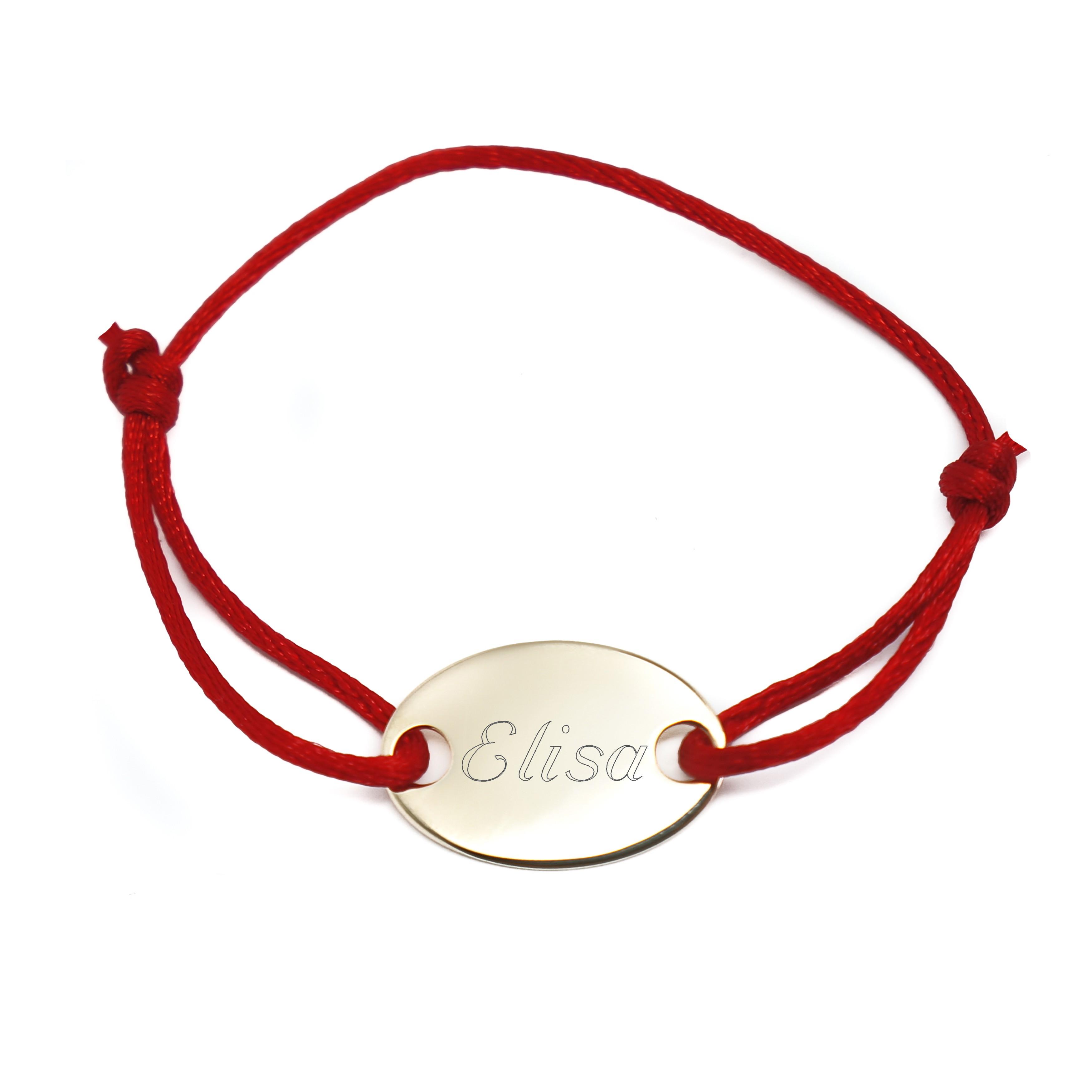 Argent Bracelet PrénomDessinEmpreinte Médaille Cordon Personnalisé yv8wN0Omn