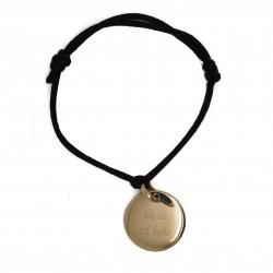 Bracelet personnalisé 1 médaille bombée - Plaqué or