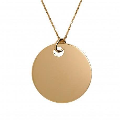 Sautoir Médaille XLL - Plaqué or