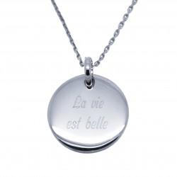 Collier médaille 20 mm - Plaqué or