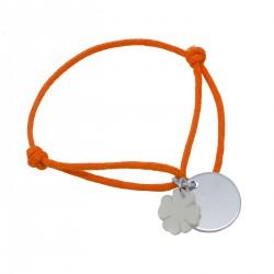 Bracelet Eclipse de nacre trèfle à 4 feuilles - Argent