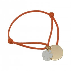 Bracelet Bulle de tendresse sur cordon satin - Plaqué or