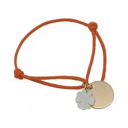 Bracelet Bulle de tendresse sur cordon satin - Plaqué or