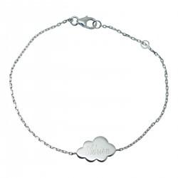 Bracelet personnalisé Sur un nuage - Argent