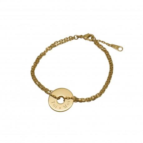 Bracelet Bulle de tendresse coeur - Plaqué or