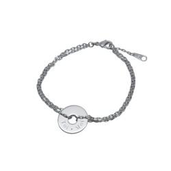 Bracelet Bulle de tendresse sur chaîne - Argent