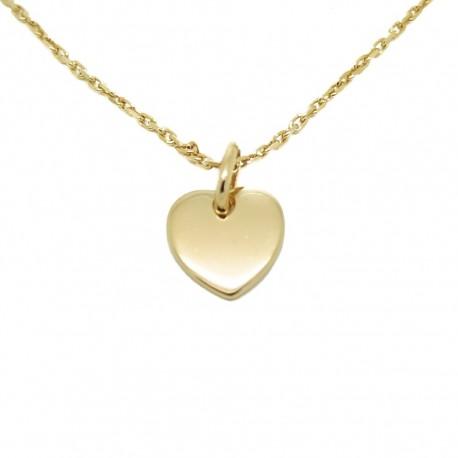 Collier mini coeur - Plaqué or