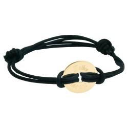 Bracelet personnalisé Bulle de tendresse Double cordon - Plaqué or
