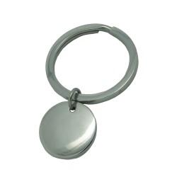 Porte-clé rond et médaille ronde - Acier