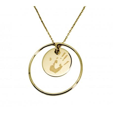 93bcd657a354 Collier anneau de tendresse personnalisé en plaqué or