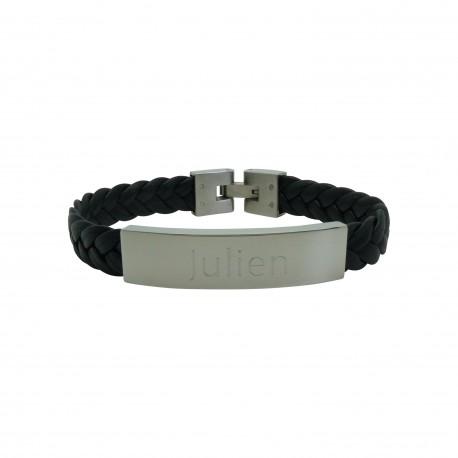 Bracelet homme Cuir et Acier