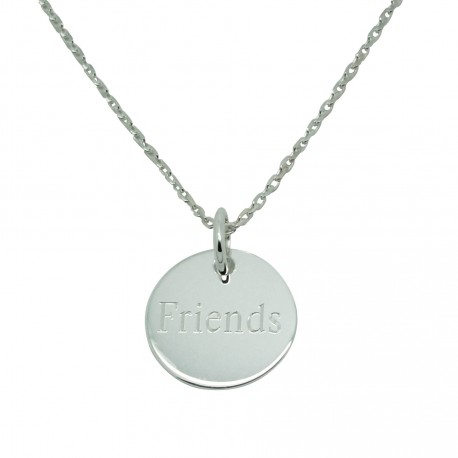 Collier médaille 15 mm - Argent