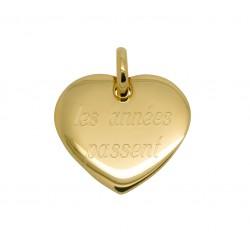 Pendentif personnalisé coeur 19 mm - Plaqué or