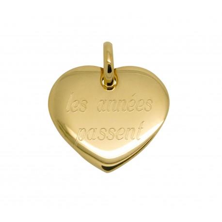 Pendentif coeur 19 mm - Plaqué or