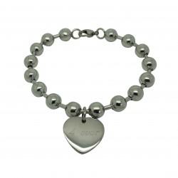 Bracelet Boules et Coeur - Acier