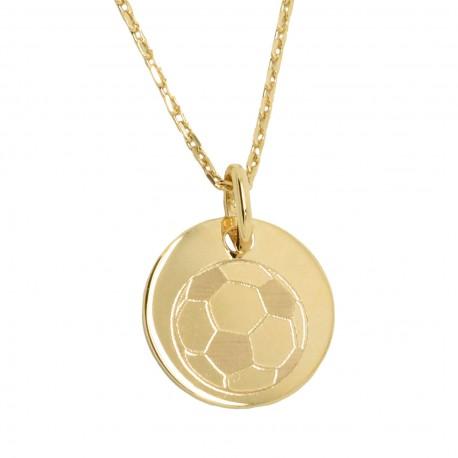 Collier médaille 19 mm - Plaqué or