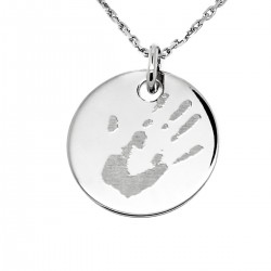 Collier personnalisé médaille 19 mm - Argent