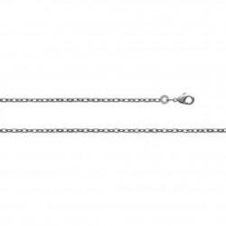 Chaînes maille forçat 80 cm - Argent
