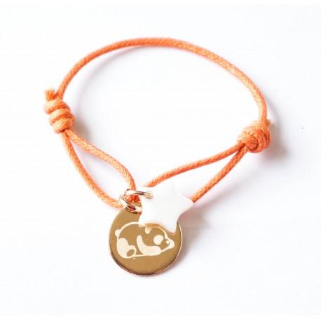 Bracelet enfant personnalisé dessin ou prénom Plaqué or