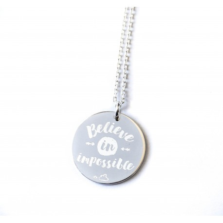 Citations - Collier pendentif 27 mm