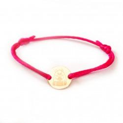 Bracelet gravé ours pour enfant en argent ou plaqué or