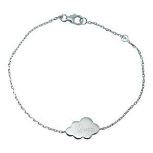 Bracelet nuage gravé prénom