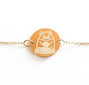 Bracelet fille gravé ours