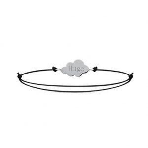 Bijou nuage gravé bracelet cordon